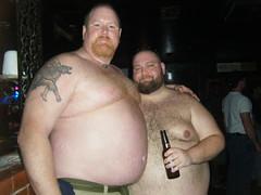 Big Red & Jeff (I.E. Bear II) Tags: friends hairy man cute guy beer happy gut big furry friend fat handsome chub dude belly trail bubba beerbelly chubby thick gordo bellies panza happytrail panzon pansa stocky panson