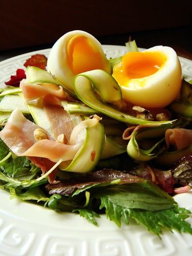 Serrano Ham, Egg and Asparagus Salad