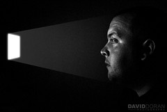 Looking Out (David Doran) Tags: ireland light portrait irish white david black window face dave self dark photography photo nikon ray bright id highlights identity 1855mm highlight derry doran d3000