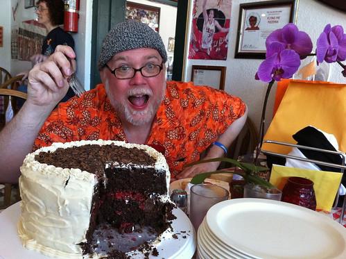 Jay Lake and cake