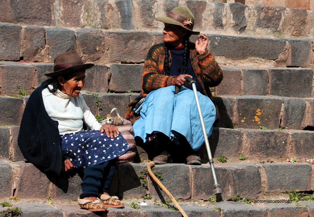 le donne anziane donne single in perù