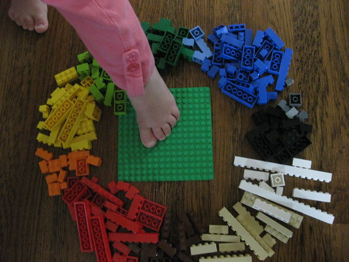 lego and a foot