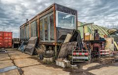 Stored (Jorden Esser) Tags: nederlandvandaag nswandeling parklingezegen container fence fencefriday fences hff junkyard shed wall window artcolony