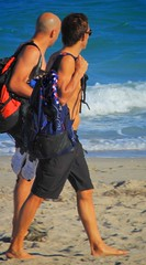 Maybe it's at sea (LarryJay99 ) Tags: dude beach capes urbanbackpacking urban barfuss pedestrian dudes guys nape backpacks backs people sunglasses couple profiles sexyguy clogs peekingpits toes urbanbackpackers tattoos ocean candid man lakeworthbeach tatts shirtless nipples legs ilobsteritflickr shoreline footwear feet men navels lakeworthbeachlakeworth lakeworth handsome male blue seascape canon60d guy unsuspecting flickr barefoot canonef70300mmf456isusm