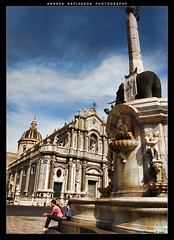 Il Duomo e l'elefante (Andrea Rapisarda) Tags: sky italy elephant clouds geotagged italia nuvole cathedral olympus cielo sicily duomo catania sicilia liotru liotro fourthird quattroterzi theperfectphotographer geo:lat=37502517 rapis60 andrearapisarda olympuse620 geo:lon=15087029