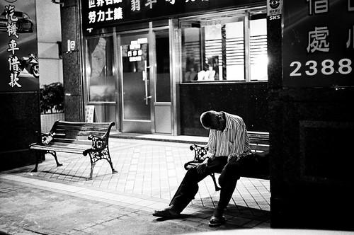 Fatigue old man