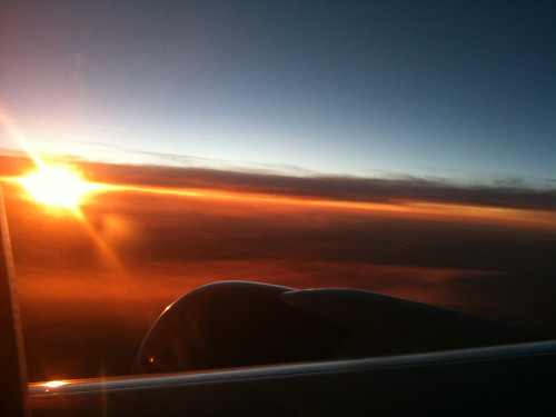 Sunset at 34,000 Feet