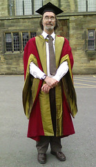 Graham in his PhD robes