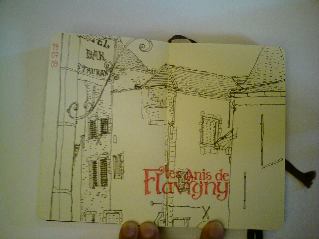 Sketch from Flavigny