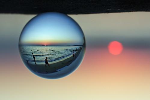 sunset at vouliagmeni