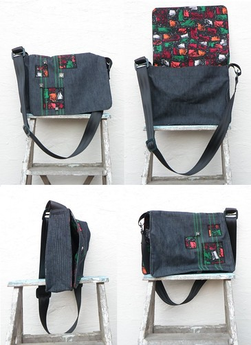Square Dot Messenger Bag