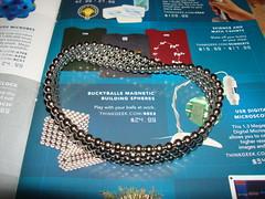 Mobius Buckyball Strip (IslesPunkFan) Tags: metal loop science magnets strip math thinkgeek mobius buckyball