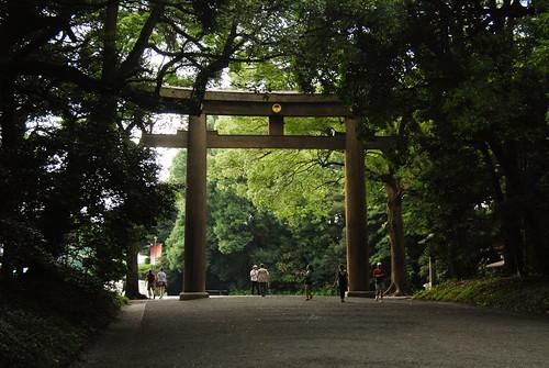 Meiji Jingu, Tokyo: Outer Torri