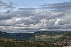 Millau 17-07-09-8522 (sweenpole2001) Tags: sky cloud holiday france green field clouds hill hills fields millau