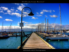 Williamstown Marina - Melbourne (i) Tags: marina docks boats pier jetty melbourne bluesky victoria explore williamstown frontpage hdr beautifulday canoneos40d erizslr williamstownmarina