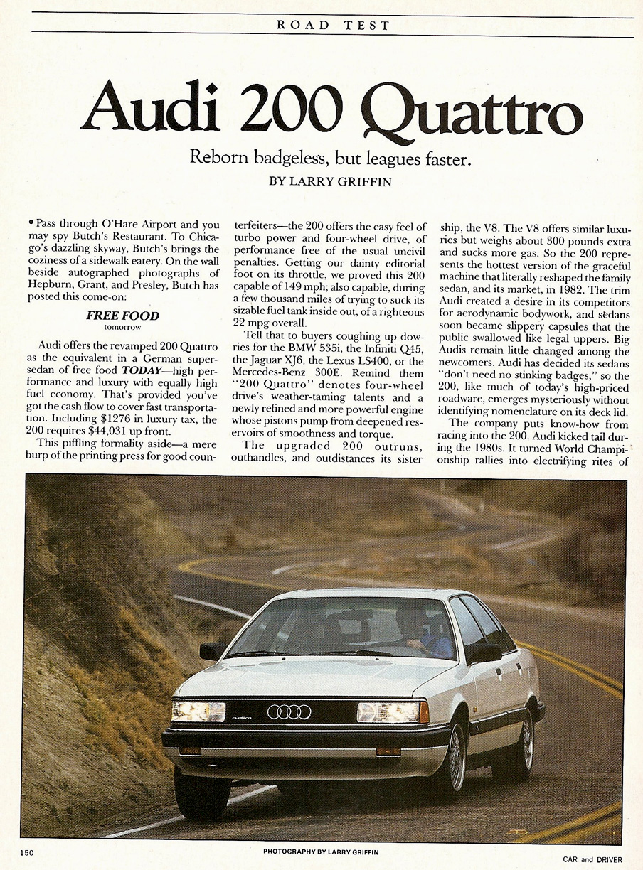 vwvortex com the archive 1991 audi 200 quattro 20v turbo rh forums vwvortex com audi 200 bentley manual audi 200 repair manual