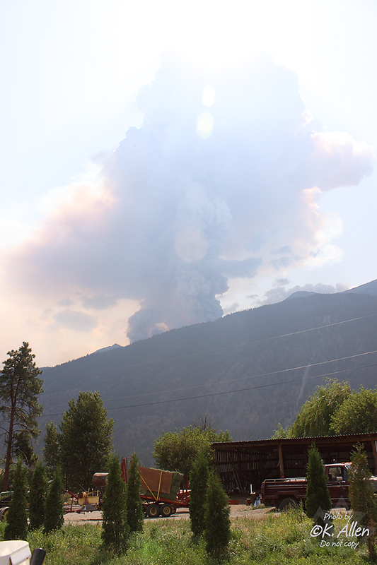 Della Creek Fire Aug 6 2009