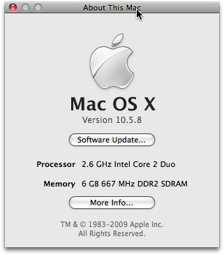 Screenshot from my Mac Book Pro (early 2008 model)
