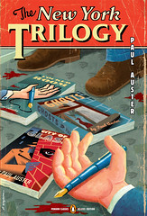 the new york trilogy (paul buckley design) Tags: penguin design bookcover artspiegelman paulauster thenewyorktrilogy paulbuckley