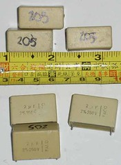 Faco MKP Capacitor (2uF 250VDC, Used) (GOA2008) Tags: mkt capacitor mkp fkp mkm faco