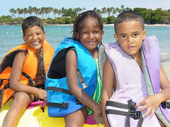 Young Kids at the Seaside - Puerto Plata - Dominican Republic - by Adam Jones, Ph.D.