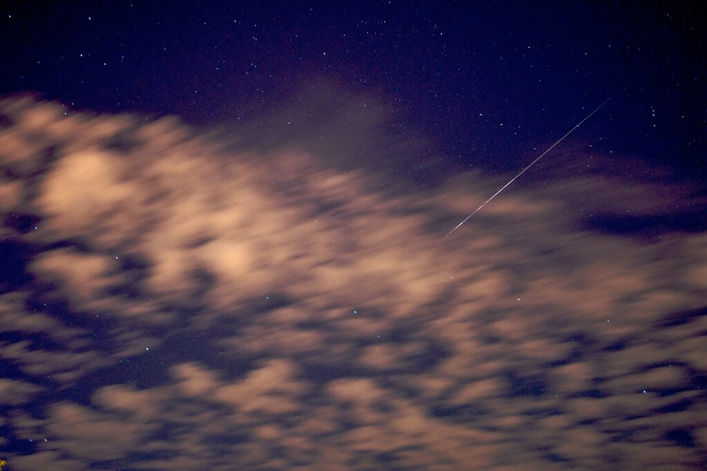 Perseid Meteor Over Clouds