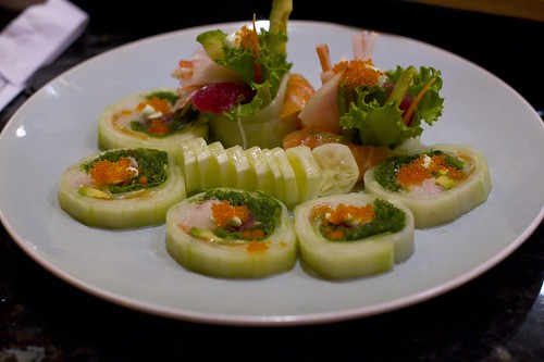 Cucumber Roll with Hamachi and Other Yummies