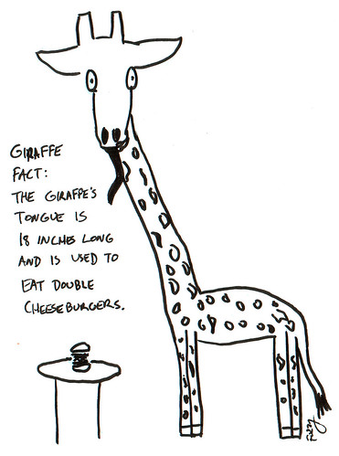 366 Cartoons - 202 - Giraffe Fact