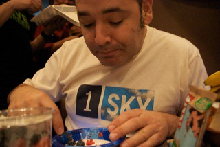 Ken sports his 1 Sky tee, our eco-table from Houston