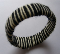 Black Knitted Bracelet