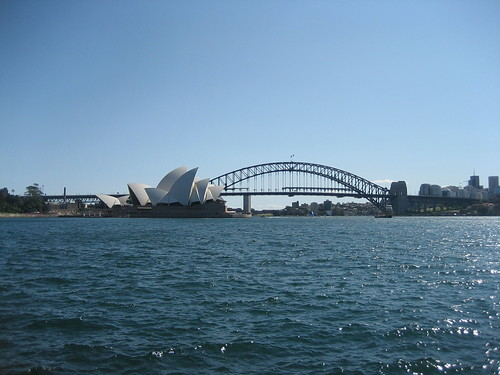 View of Harbour Bridge & Opera House from the Botanical Gardens