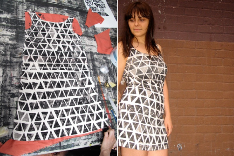 DIY potato printed dress 4