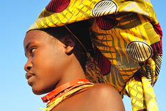 mucubal headdress (luca.gargano) Tags: africa expedition girl hat necklace tribal tribe headdress angola gargano namibe mucubal lucagargano mucubais