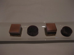 Michael Mina - Mignardises - roasted smore and raspberry gelee