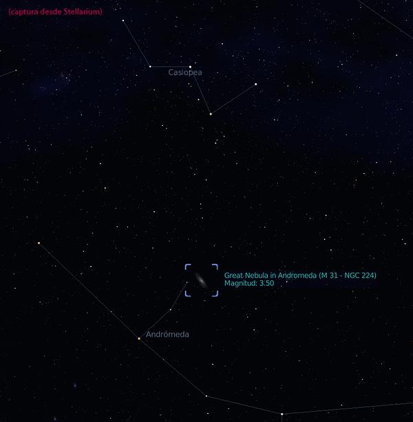 andromeda stellarium