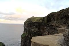 Rock Glow (gavinzac) Tags: ocean county ireland sea cliff grass rural clare cliffs atlantic cliffsofmoher continent moher precipace