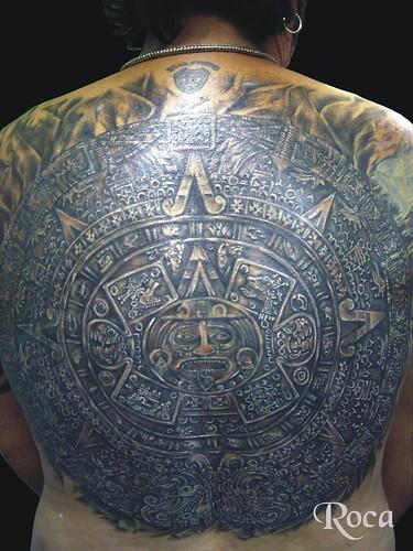 CALENDARIO AZTECA ESPALDA 3 by roca tattoo studio