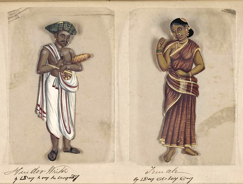 021- Escribiente hindú y su mujer-Seventy two specimens of castes in India 1837