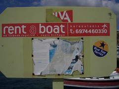Rent a boat, no license required! (neppanen) Tags: island greece andros cyclades aegeansea rentaboat discounterintelligence sampen nolicenserequired