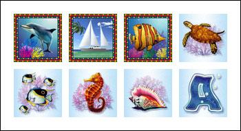 free Crystal Waters slot game symbols