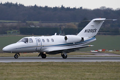 N120CS - Private - Cessna 525 Citation CJ1 - Luton - 090303 - Steven Gray - IMG_0338