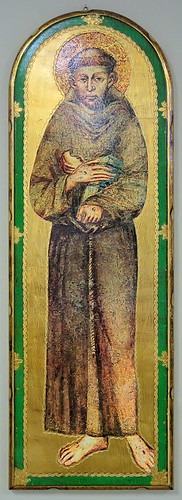 Icon of Saint Francis of Assisi, at Saint Anthony of Padua Roman Catholic Church, in Saint Louis, Missouri, USA
