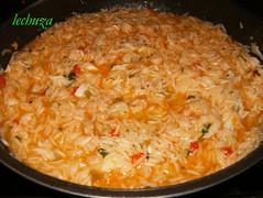 Pimientos rellenos-arroz casi hecho