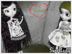 35/365 - Mis amores!! (SweetLuly) Tags: photoshop dolls pullip kimberly sapos chill veritas mimia pullipchill polypop pullipveritas gizamartins pullipfrog