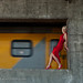 Composition with model, train and wind tunnel