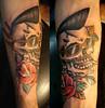 caveira psychobilly tattoo feita durante
