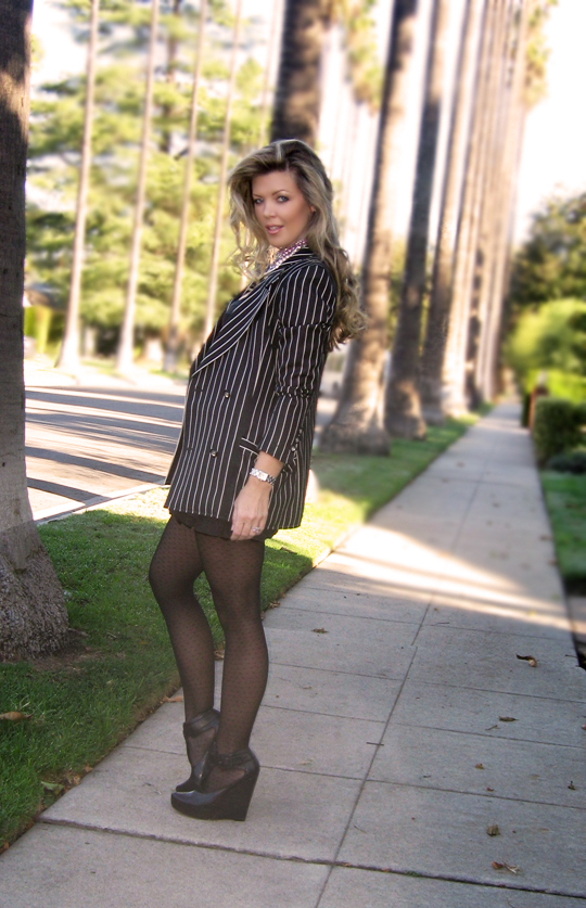 lbd-striped-ungaro-blazer-polka-dot-tights-wedges-2