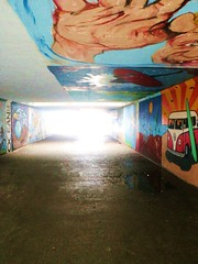 tunnel to gilgo (victoriabateman) Tags: art beach island long paint tunnel grafetti gilgo