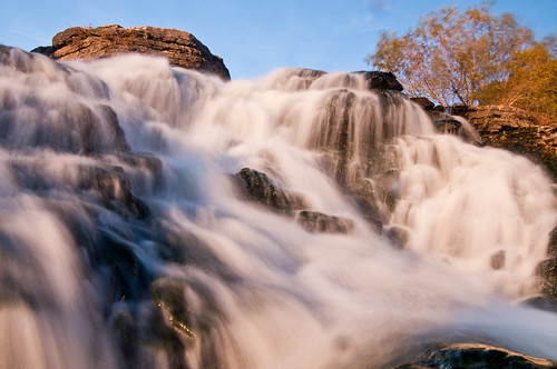 Raging Falls at Sunset.