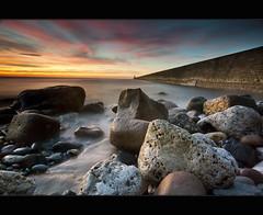 P e r f e c t | L i g h t i n g (Reed Ingram Weir) Tags: longexposure sea sunrise rocks northumberland smoothwater greatsky nothdr tynemouthpier leefilters canonmk2 reedingramweir